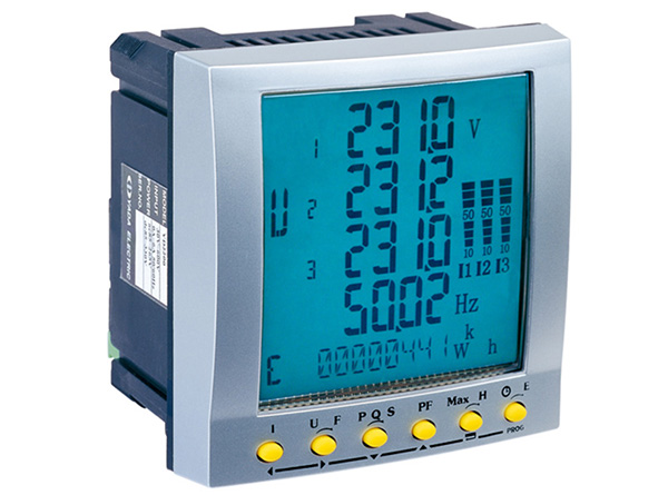 3 Phase Power Meter : Rs port three phase stop digital power meter