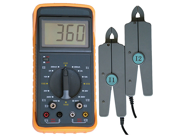 Electrical Phase Meter : Electrical double clamp portable phasor meter phase angle