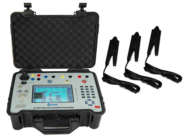 Portable Electric Power Meter : Three phase portable standard energy meter test equipment